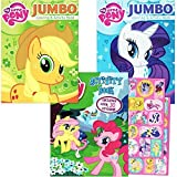 My Little Pony Coloring Book Super Set with Stickers (3 Jumbo Books - Approximately 200 Pages and 30 My Little Pony Stickers Total Featuring Rainbow Dash, Fluttershy, Pinkie Pie and More!)