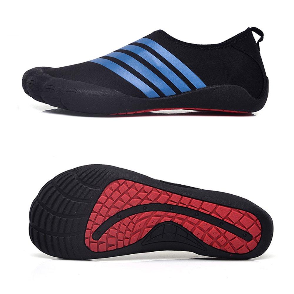 Water Shoes Mens Womens Beach Swim Shoes Quick-Dry Aqua Socks Pool Shoes for Surf Yoga Water Aerobics B07CH3C364 7.5 D(M) US|Tw.blue