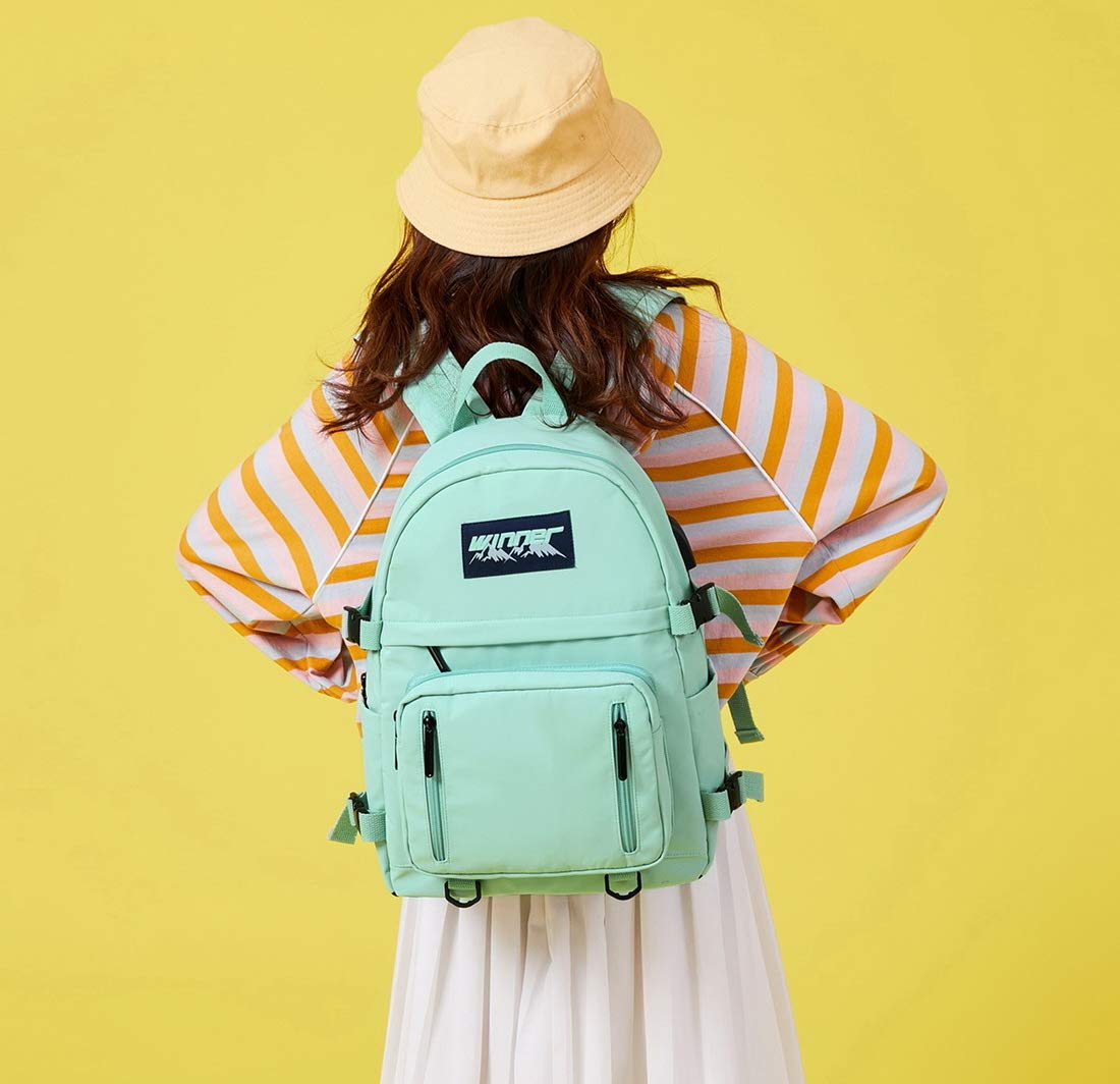 Joymoze Mochila a la Moda Coreana para Mujeres Linda Bolso Universitario para Chica Azul Claro
