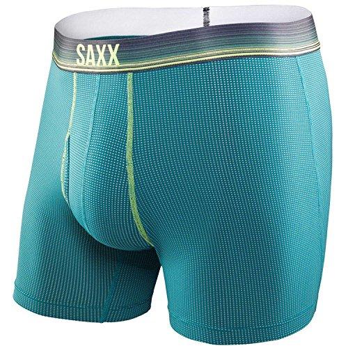 Saxx Mens Quest 2.0 Boxer Briefs Green L (Mens Quest)