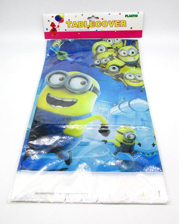 MINION Juego de mantel para mesa de plástico y banderines, diseño de Minions: Amazon.es: Hogar
