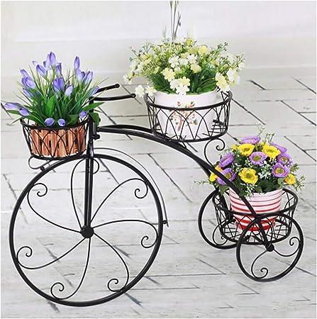 Triciclo - Estante para jardín con Soporte para Plantas de Flor de Hierro Forjado , Jardín Puede decorarse