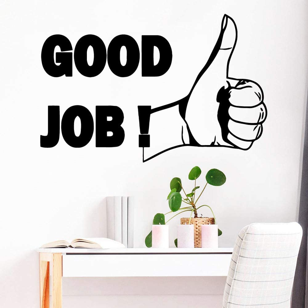 Good Job Vinyl Wallsticker Murales para dormitorio Empresa School Office Art Decal Soft Pink M 28cm X 42cm