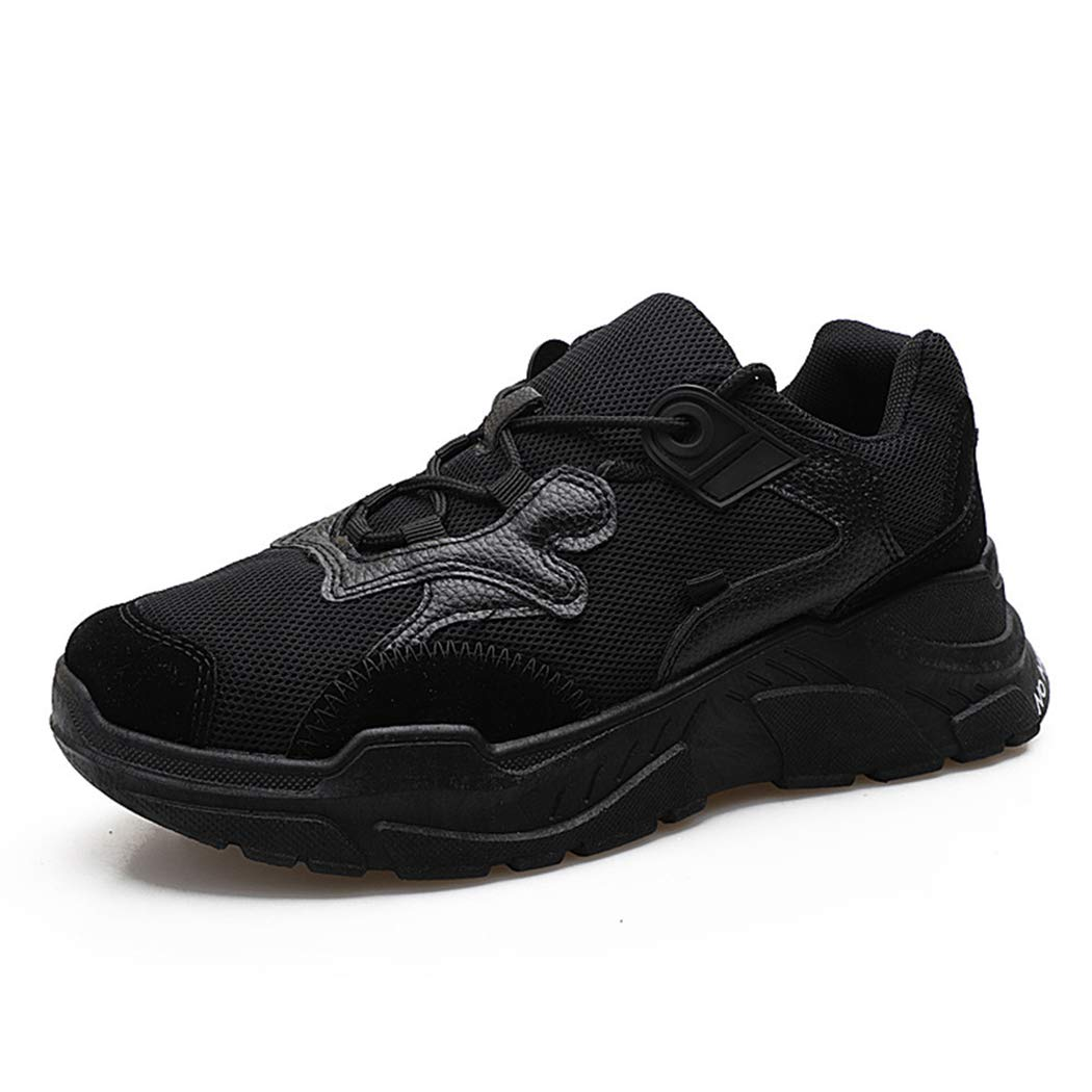 Allblack Mzq-yq Men's shoes Casual shoes Sports shoes Increased Single shoes Men's Students Tide shoes