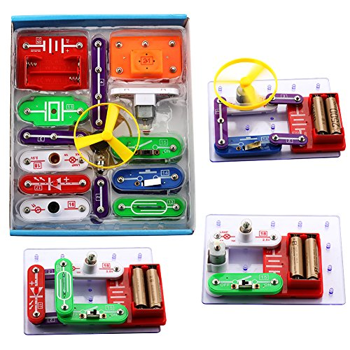 Shavow Science Learning Toy Science Kits for Kids DIY Circuits for Kids Educational Electronic Discovery Learning Kit Building Block Experiment Kit for Elementary Students Children Kids Age 5-10 from Shavow