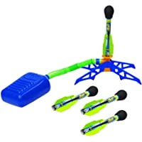 Zing Zoom Rocketz ((Sustainable Packaging) - Adjustable Air-Powered Rockets - Outdoor Rocket Toy Gift for Boys and Girls