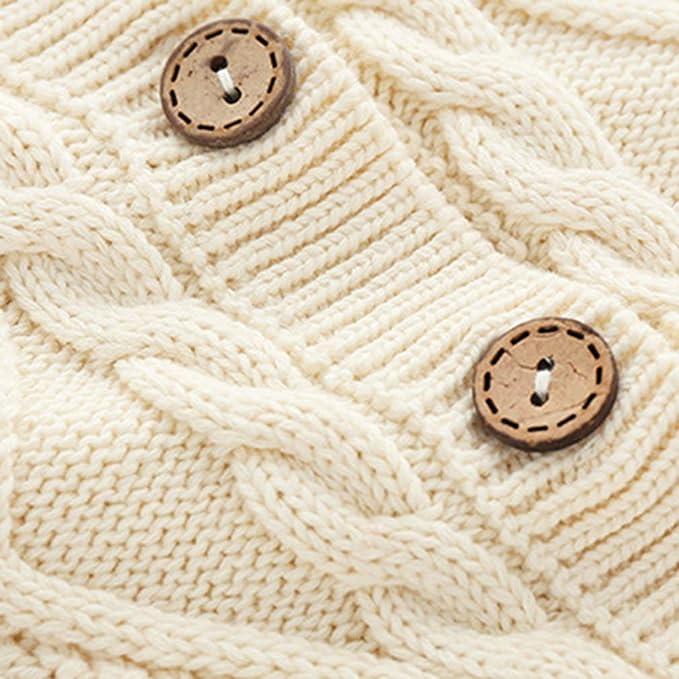 Eozy Strickoverall Baby Jungen M/ädchen Herbst Winter Pullover Overall mit M/ütze