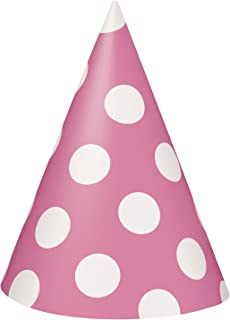 amazon com hot pink party hats 8ct kitchen dining rh amazon com Birthday Hat Clip Art DVD Disc Clip Art