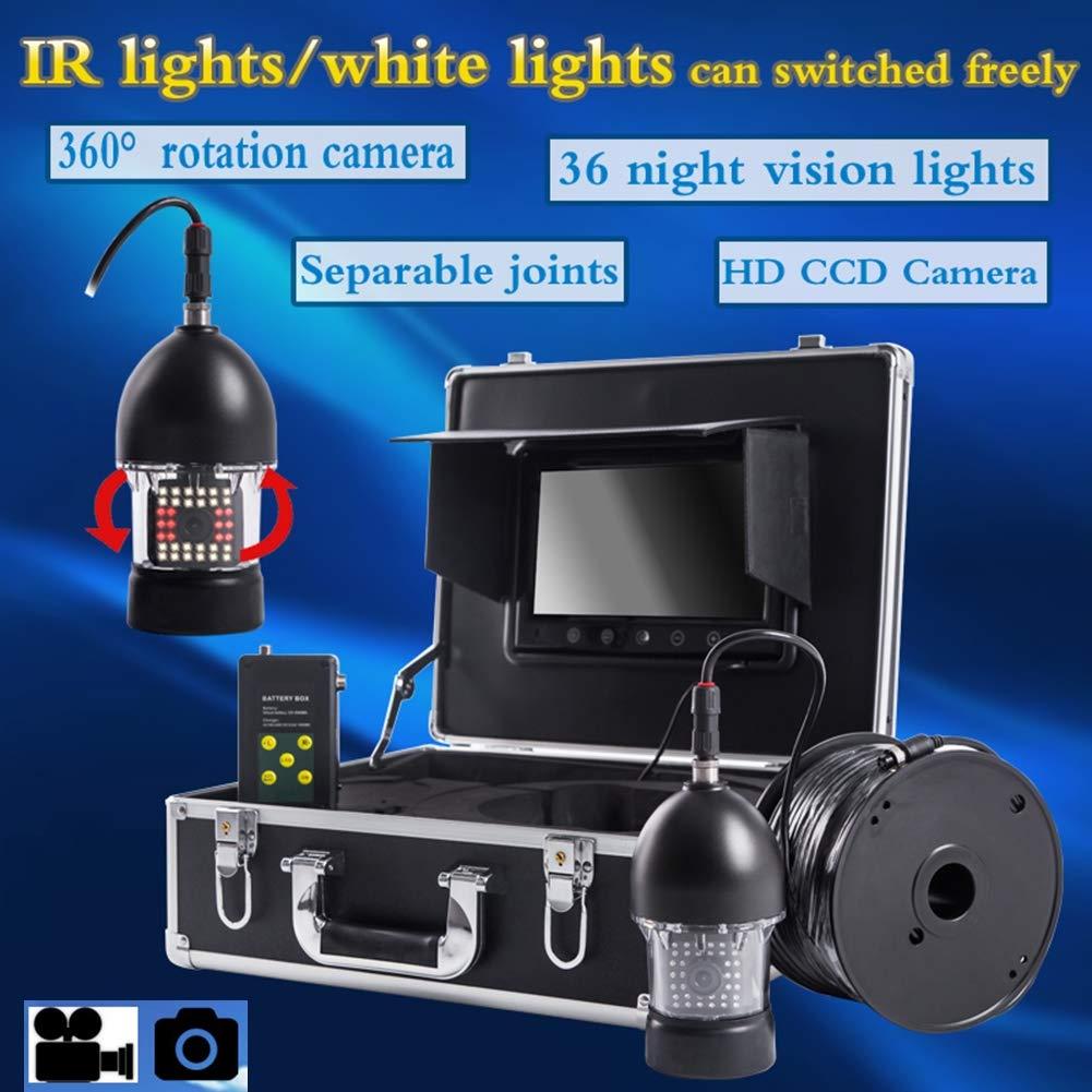 9インチ水中魚群探知機HD水中カメラTFTカラーディスプレイCCDとHD、DVRビデオ(20M)