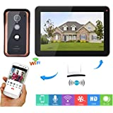 Video Doorbell Two-Way Intercom 9 inch Wired Door Phone Kit Visual Entry System with Colorful Night Vision Camera, Monitoring, Remote Unlock for Home Security