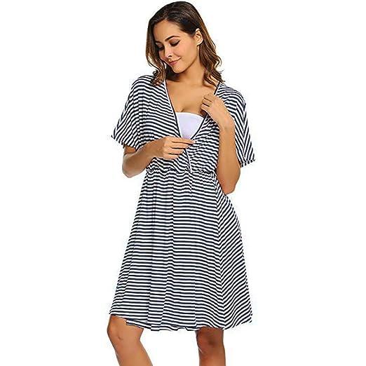 3e62c54f0fc70 Womens Labor/Maternity/Nursing Nightgown Pregnancy Gown for Baby Shower  Hospital Breastfeeding Dress Navy
