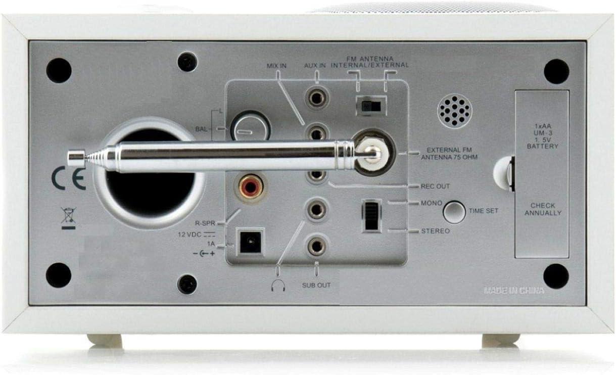Antena Telescópica FM Interior Dab Radio Aerial, Ancable HiFi AV Sistema Receptor 75 Ohm Unbal para Denon Sony Roberts Yamaha Hitachi Tivoli Audio ...