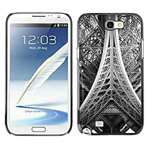 Be Good Phone Accessory // Dura Cáscara cubierta Protectora Caso Carcasa Funda de Protección para Samsung Note 2 N7100 // Tower Paris Black White Photo