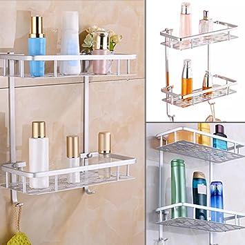 Badezimmer Regal Halter, Kunststoff Badezimmer Regal Dusche Wand ...