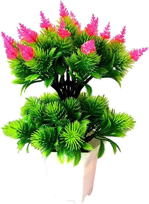 Amazon Com Acamifashion Colorful Fake Plants Artificial Pine Cone Plant Pot Bonsai Party Home Hotel Desktop Furniture Decor Pink Home Kitchen