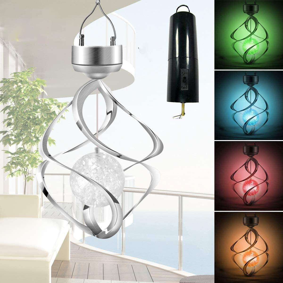Hanging Solar Lights Outdoor-Wind Chimes Lights LED Colour Changing Hanging Light for Design Decoration for Garden, Patio, Balcony Outdoor & Indoor (+Rotating Motor )