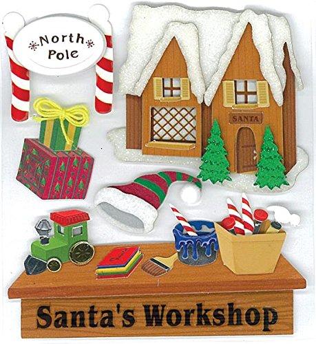 Jolees Christmas Stickers, Santa's ()