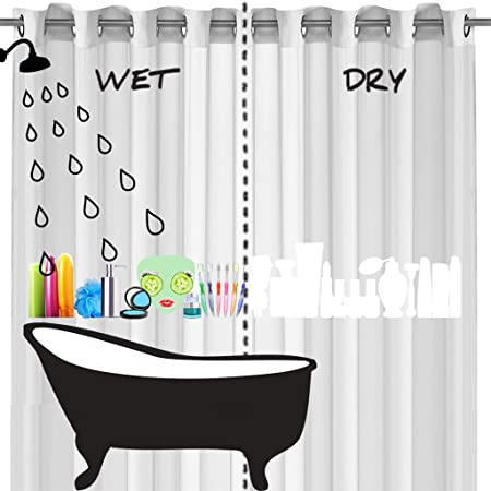 Miss Squidolette The Colour Changing Shower Curtain Amazoncouk Kitchen Home