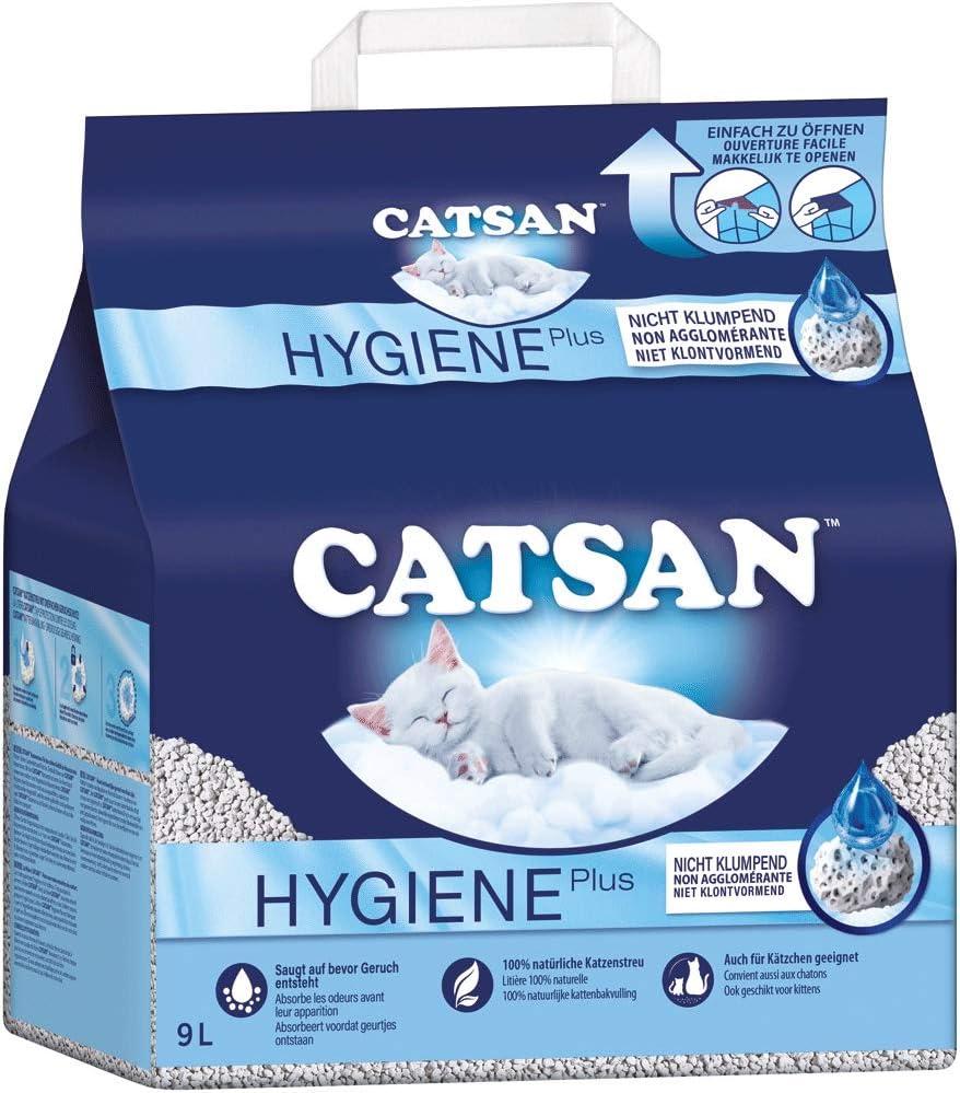 Catsan Hygiene Plus - Producto higiénico blanco con protección mineral extra - 1 x 9 litros: Amazon.es: Productos para mascotas