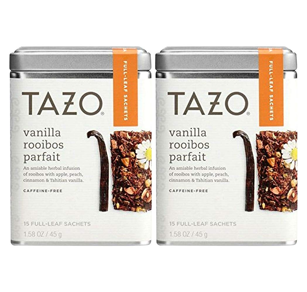 Tazo Herbal Tea, Vanilla Rooibos, 15 Tea Bags (Pack of 2)