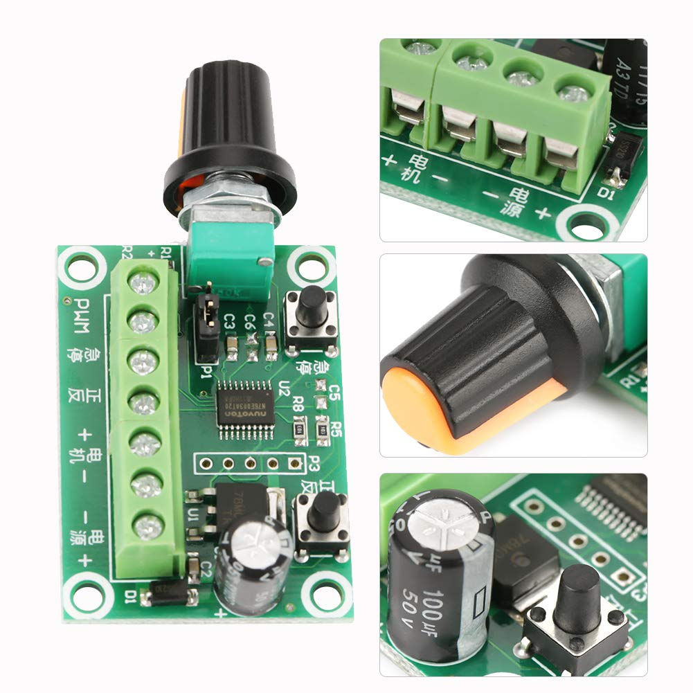 6-30V DC Motor Speed Controller Brushless Motor Driver Controls Module Pulse Width PWM Regulator Switch Wal front