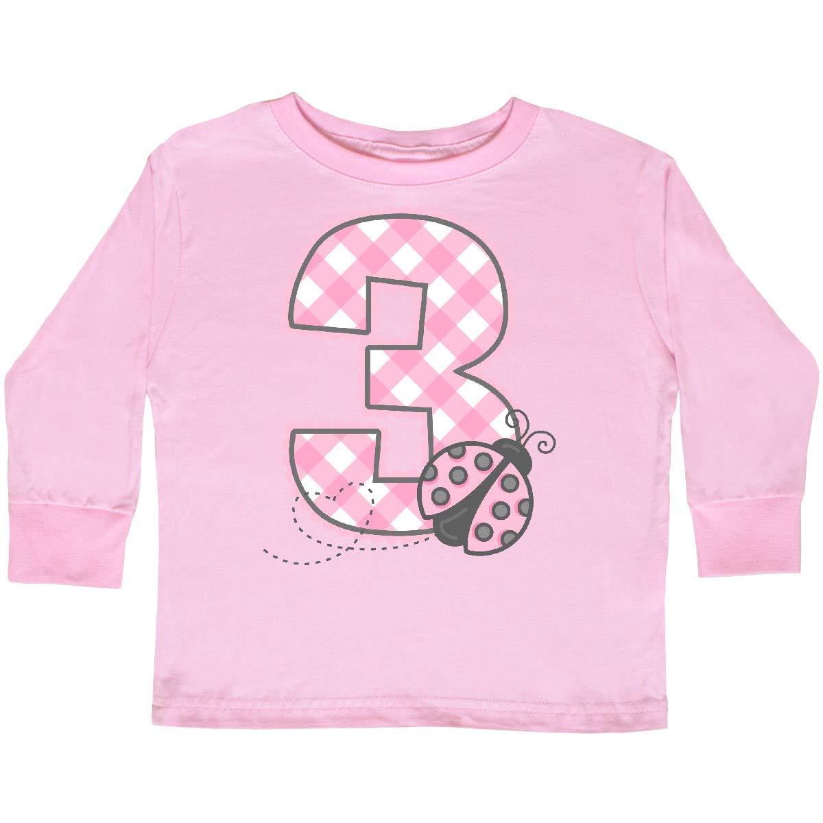 inktastic Pink Ladybug 3rd Birthday Toddler Long Sleeve T-Shirt