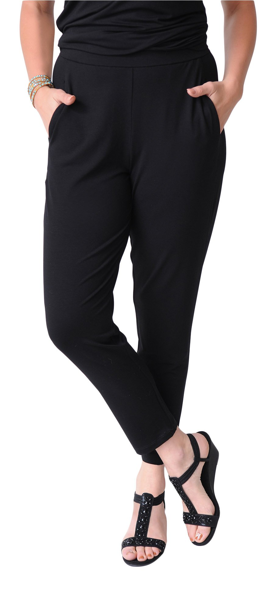 Eileen Fisher Slim Ankle Slouchy Pant (M)
