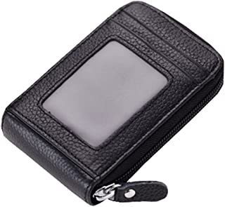 Mignon carte de crédit Cartes de sac à fermeture porte-monnaie, Noir Blancho Bedding
