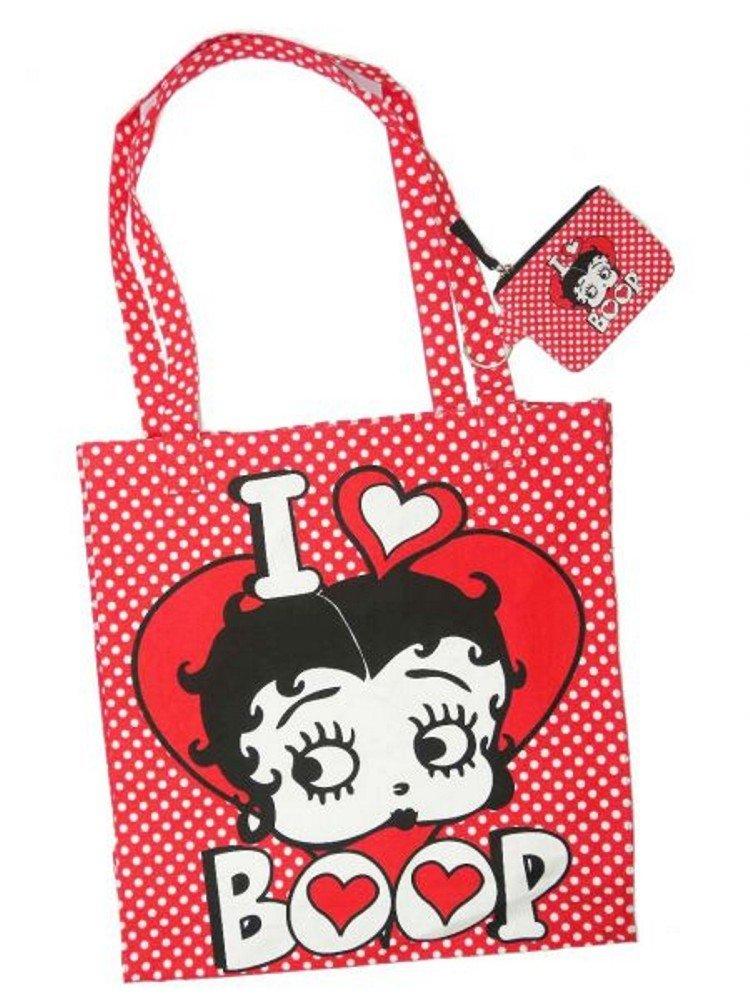 Betty Boop - Bolso de tela para mujer rojo 40 cm x 36 cm ...