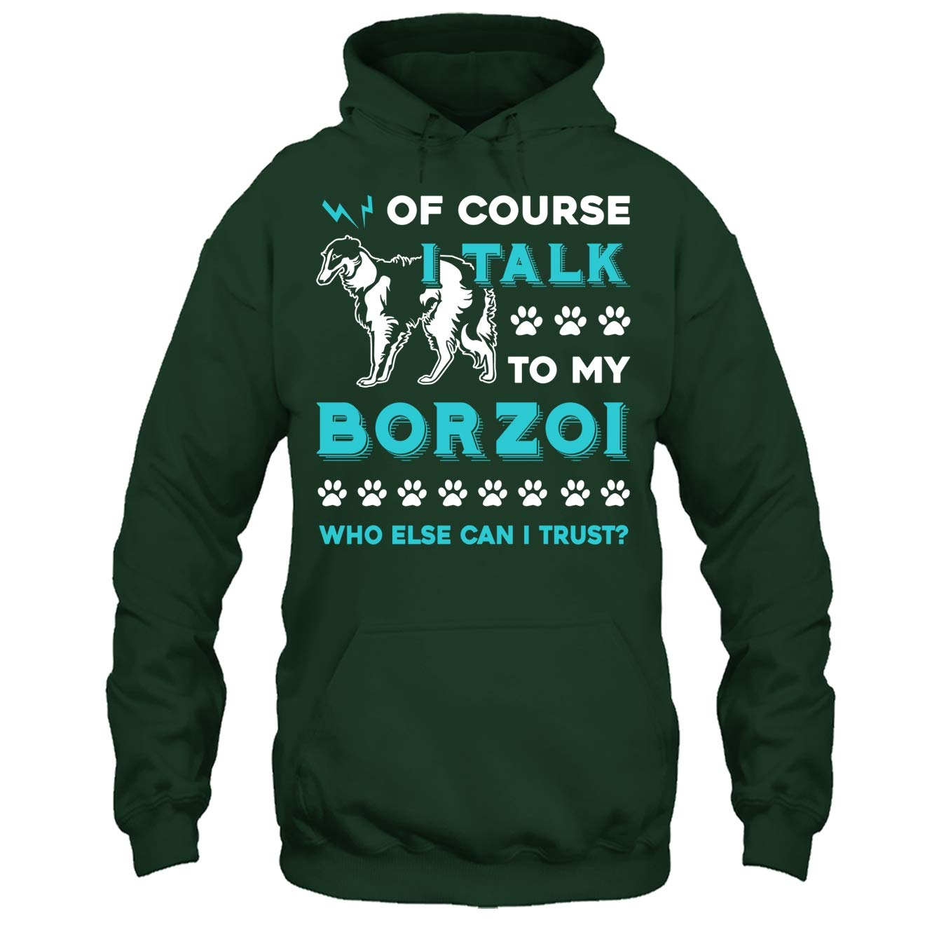 Addblue Borzoi Cool Tee Shirt I Talk to My Borzoi Tshirt