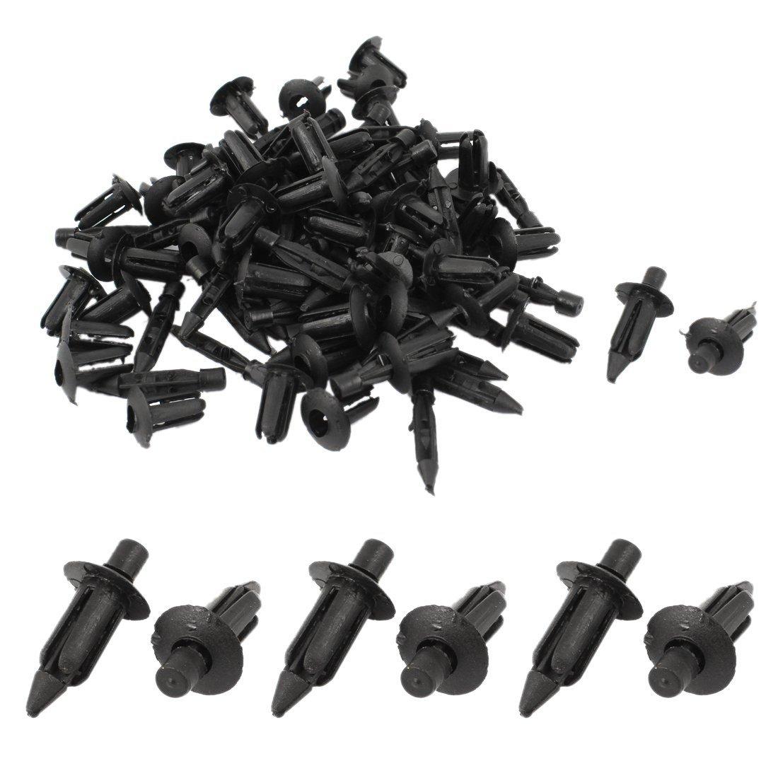 R 50 Stueck 6mm x 12mm Kunststoff Nieten Auto Clips Auto Stossstange Kotfluegel Nieten TOOGOO