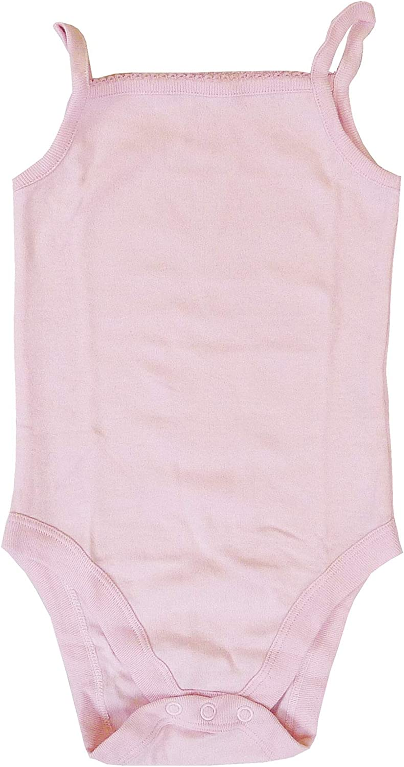 Baby Girls Pack of 7 Strap Bodysuits Vests Pink Tiny Prem Sizes from Newborn to 18 Months