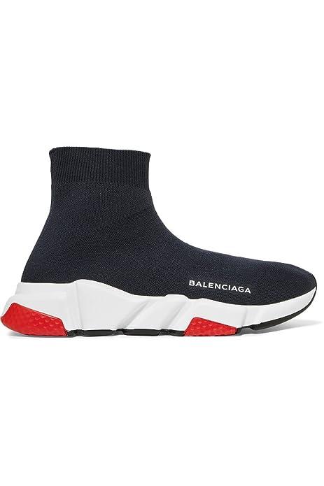 BestVIPP Balenciaga Speed Trainer Sneaker Black White Red Unisex Hombre Mujer Balenciaga Zapatillas de Running Zapatos: Amazon.es: Zapatos y complementos