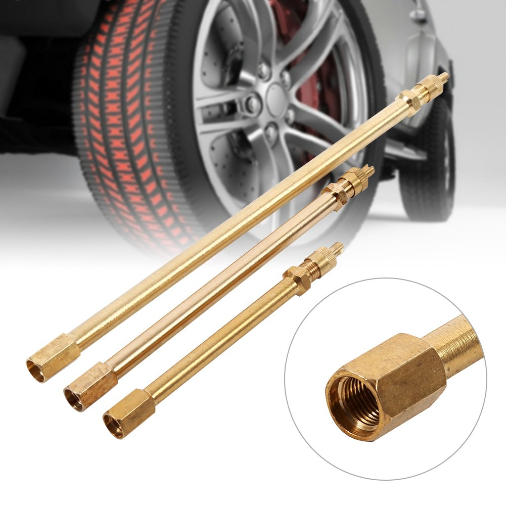 140mm Brass Auto Tire Valve Extension Adaptor for Motorcycle Bike 100mm Valve Stem Extension Pole Mower and Scooter