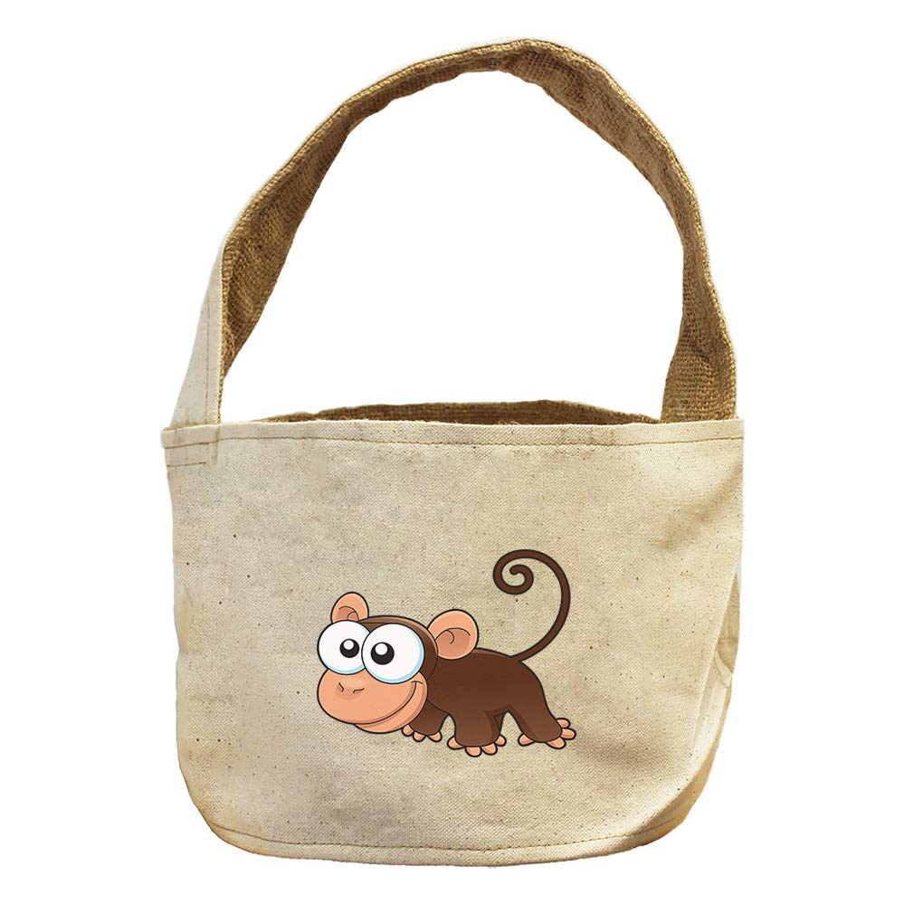 Style in Print Monkey Funny Animals Canvas and Burlap Storage Basket by Style in Print
