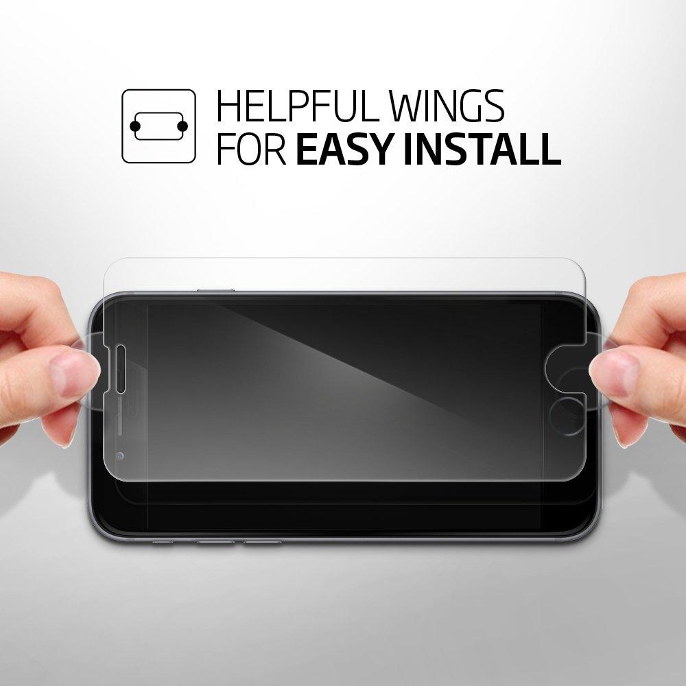 Pellicola Vetro Temperato iPhone 7 Plus, Spigen® **Easy-Install ...
