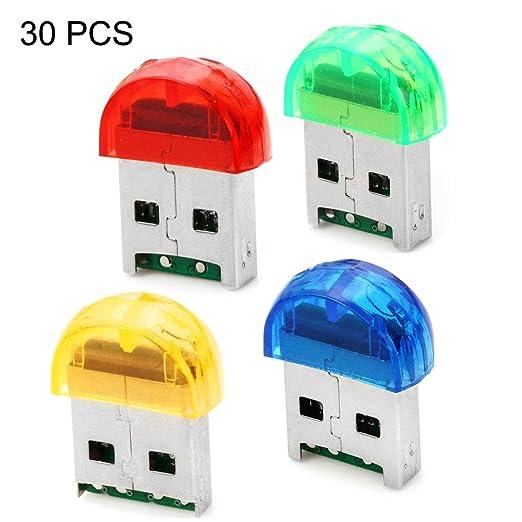 30 PCS Firefly Shape USB 2.0 TF Lector de Tarjetas, Entrega de ...