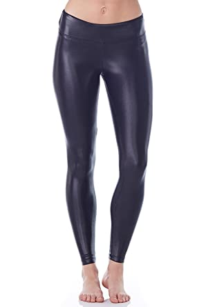 c43fea6cd35e5 Lustrous Legging-Lustrous Black-Extra Small (XS) Womens Active Sparkle Yoga  Leggings