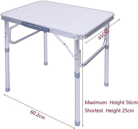 Zerone Plegable, Aluminio Camping Mesa Plegable Ajustable Mesa ...