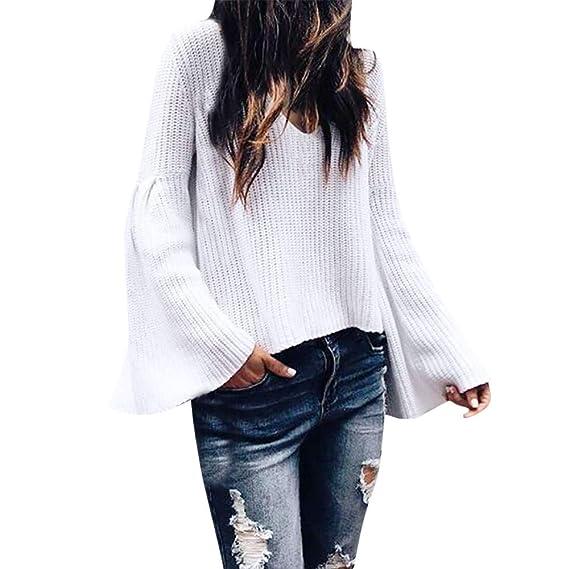 Logobeing Blusas Mujer Suéter Abrigo Jersey Mujer Otoño Moda Suelta de Manga Larga Que Hace Punto