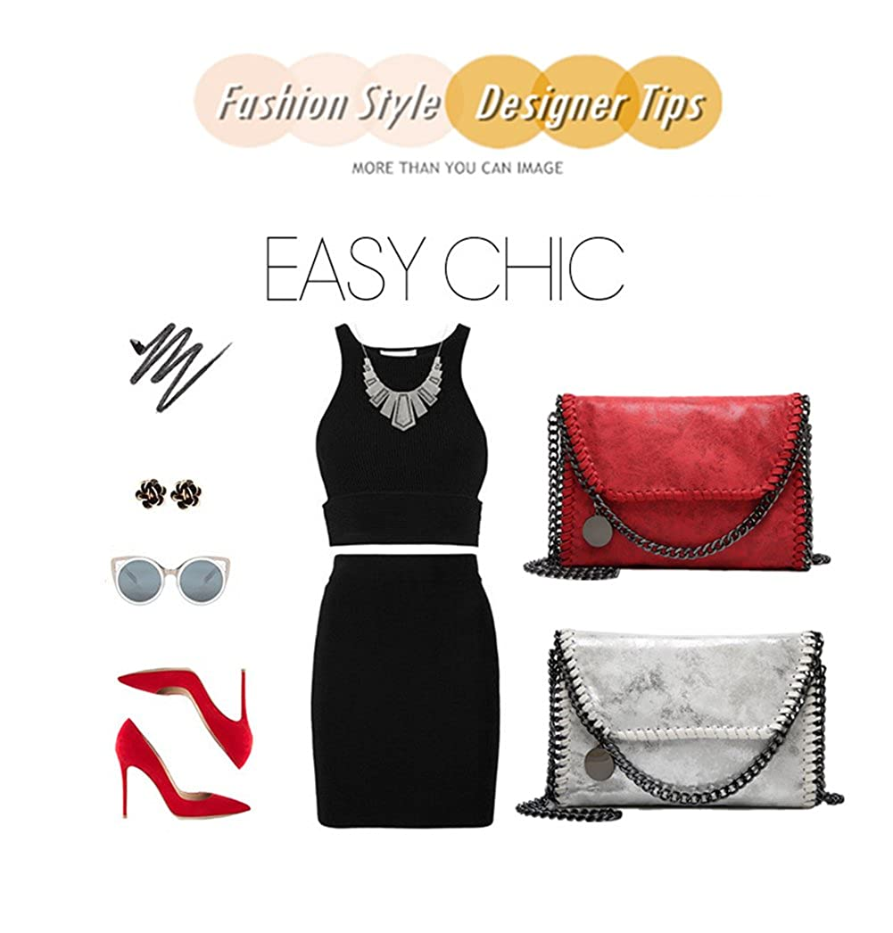 b832d09329 KAMIERFA Metallic Cross Body Bags Designer Handbags for Women Evening  Clutch Bag PU Leather with Chain larger image