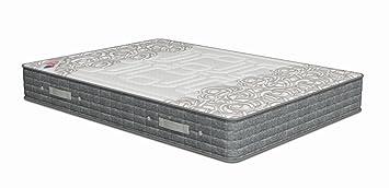 Poligón - Colchón milenium visco - muelles bonell, talla 90x190cm, color blanco / gris