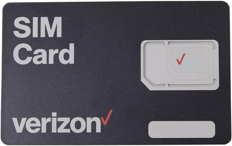 Verizon Wireless 4G LTE SIM Card - All 3 Sizes (3-in-1), Nano/Micro/Standard Sizes (4FF / 3FF / 2FF)