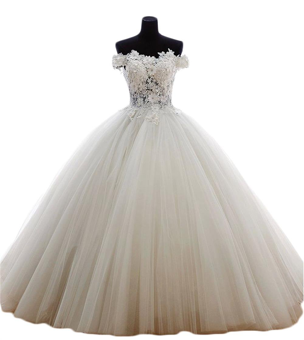 332ddd83bbb62 ... Women's Quinceanera Dresses Prom Dress Wedding Off The Shoulder Lace  B183 Ivory 6. ; 