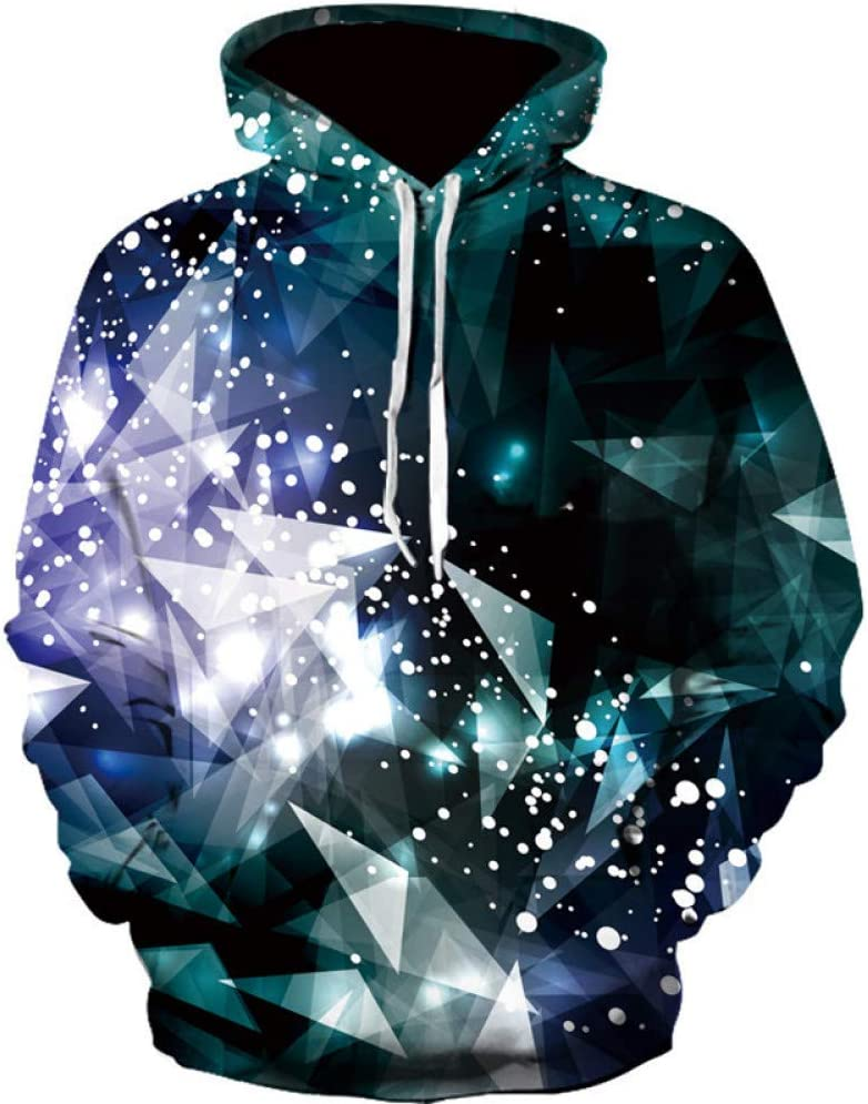 XIN Fashion Trend Galaxy Sweatshirt Männer mit Kapuze Langarm Multi-Color Printed Herren Sweatshirt Streetwear Kleidung,S ** L