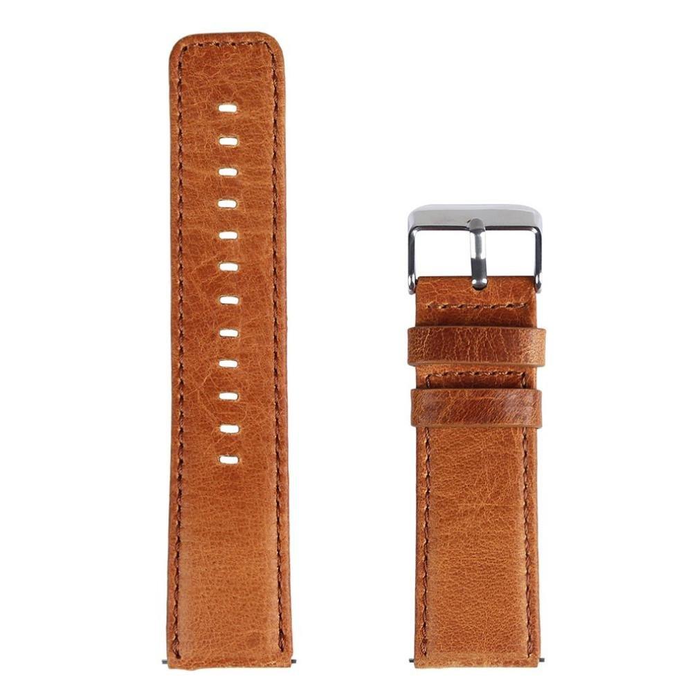 レザー時計ストラップ、RTYOu ( TM )耐久性レトロレザー腕時計ブレスレットストラップバンドfor Fitbit Blazeスマート時計 コーヒー コーヒー B077XVXMXC