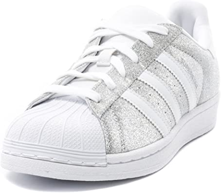 adidas superstar black and silver glitter
