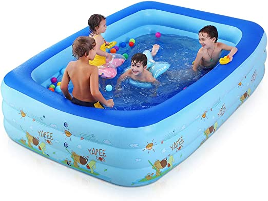 LZMXYG Bañera Plegable de la Piscina Inflable Grande, bañera ...