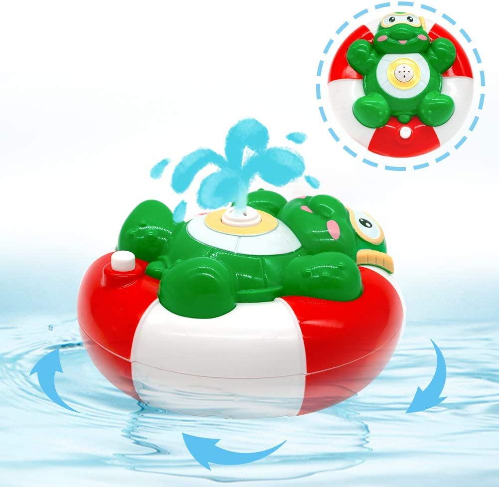 Juguetes de Baño Rociador de Agua Animales Tortuga Automático Pulverizador Juegos para Bebes Niños Niñas de 3 4 5 Años