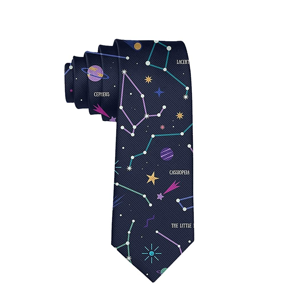 Starry Constellation Classic Men Silk Tie Woven Jacquard Neck Ties